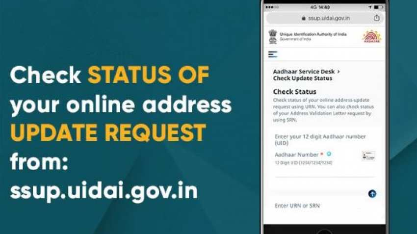 Aadhaar address update check status online